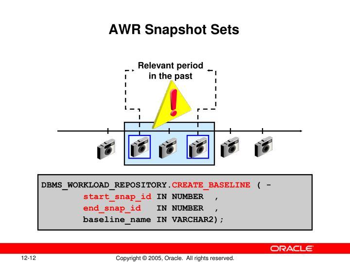 AWR Snapshot Sets