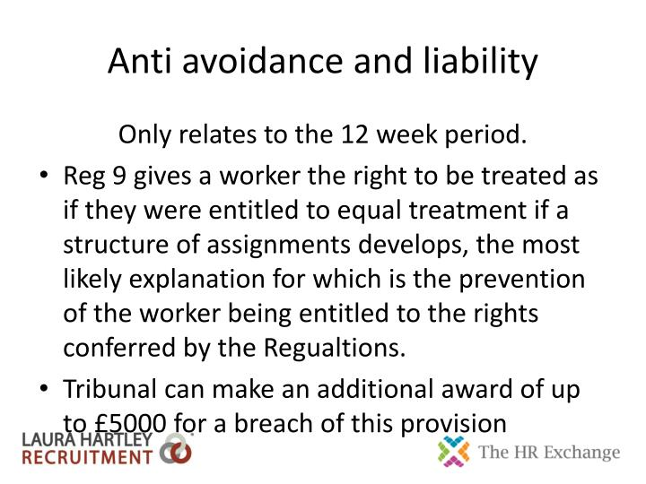 Anti avoidance and liability