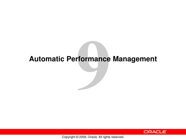 automatic performance management