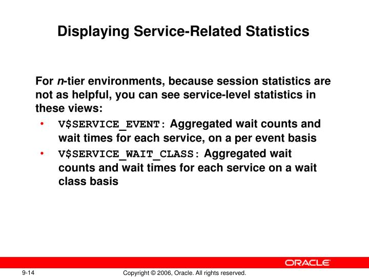 Displaying Service-Related Statistics