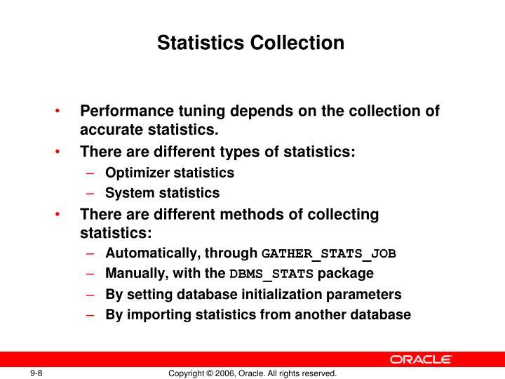 Statistics Collection