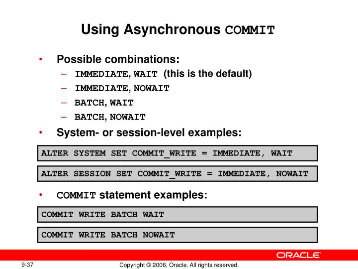 Using Asynchronous