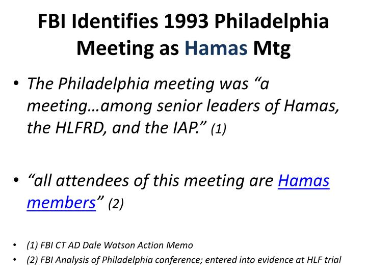 FBI Identifies 1993 Philadelphia Meeting as