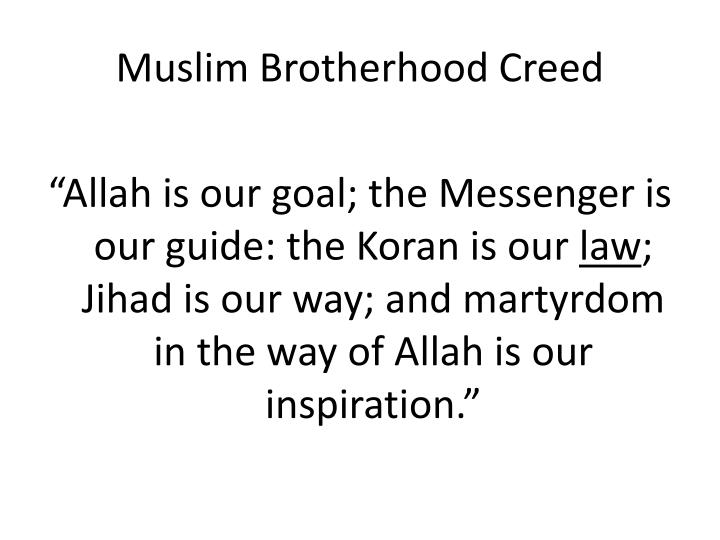 Muslim brotherhood creed