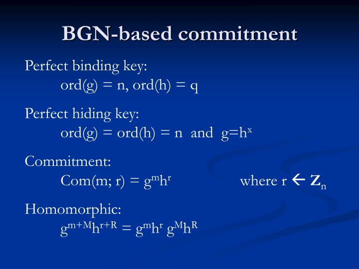 BGN-based commitment