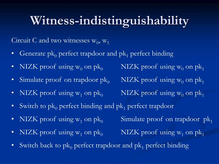Witness-indistinguishability