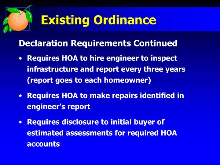 Existing Ordinance