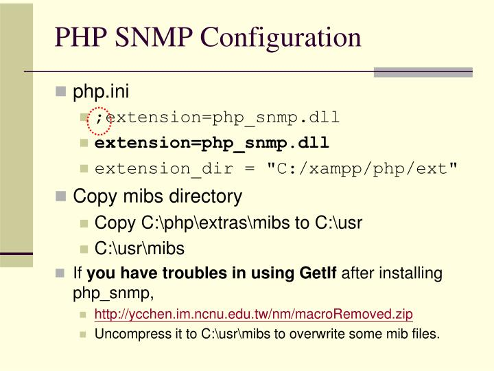 PHP SNMP Configuration