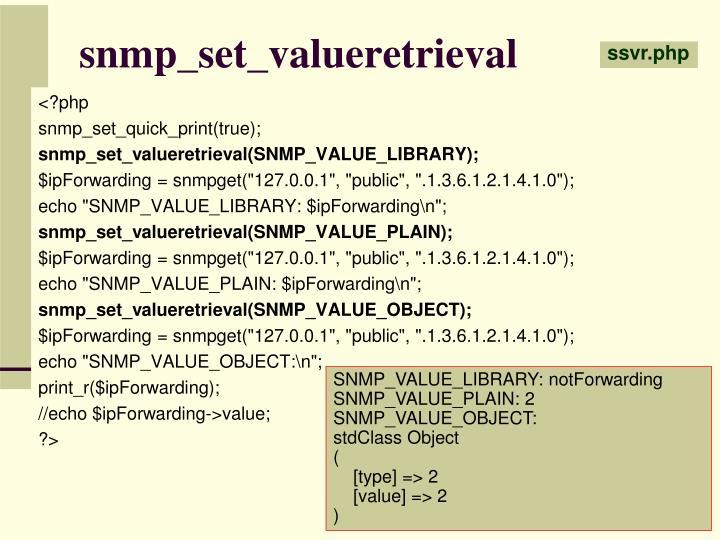 snmp_set_valueretrieval