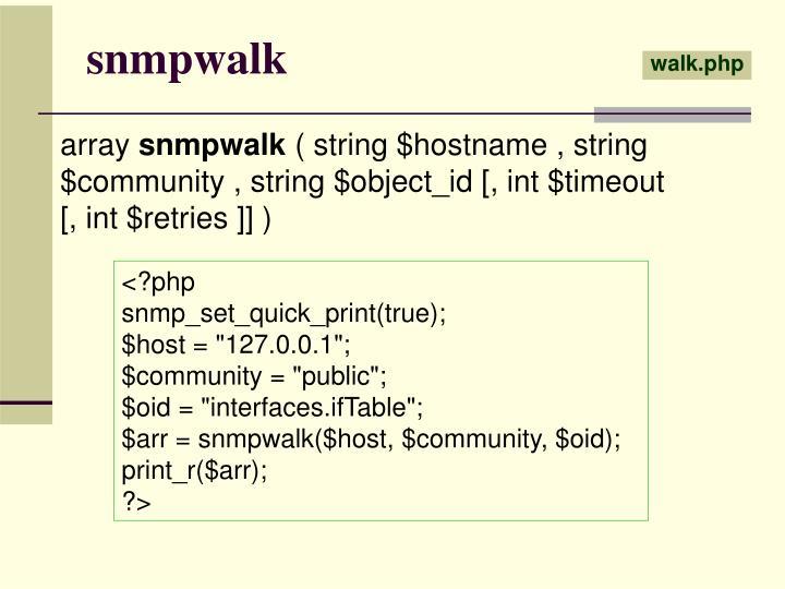 snmpwalk
