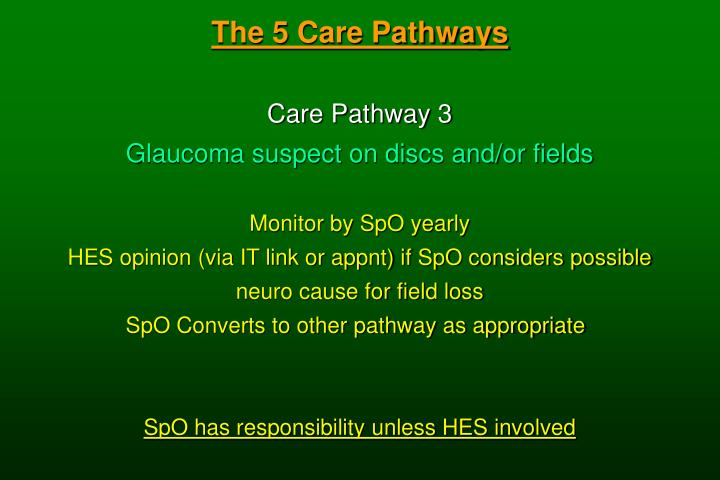 The 5 Care Pathways