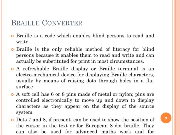 Braille Converter
