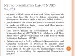 neuro informatics lab at nust seecs