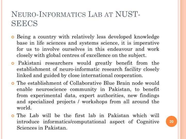 Neuro-Informatics Lab at NUST-SEECS