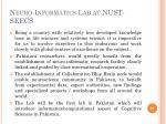neuro informatics lab at nust seecs1