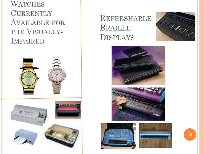 Watches Currently Available for the Visually-Impaired