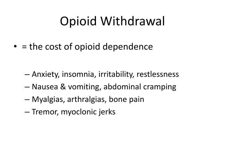 Opioid Withdrawal