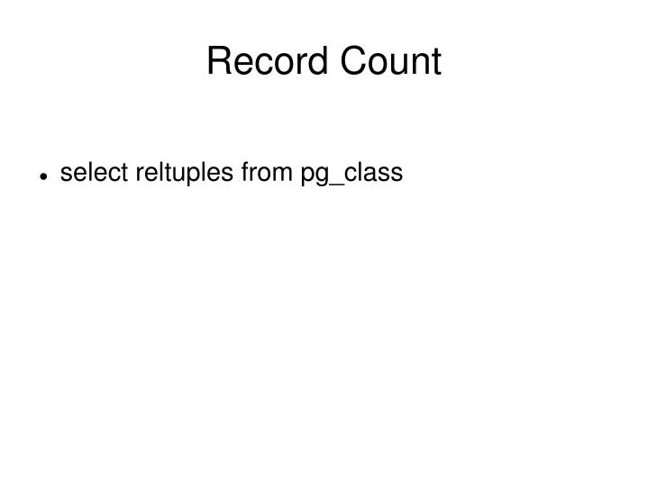 Record Count