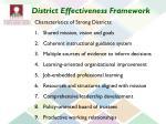district effectiveness framework
