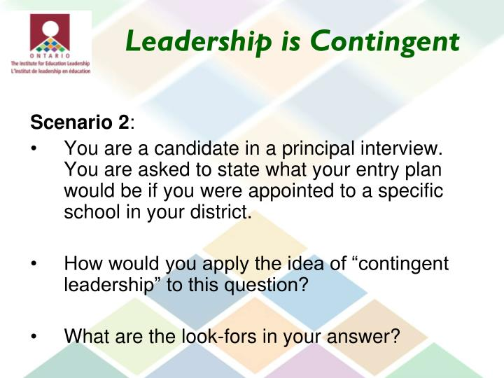 Leadership is Contingent