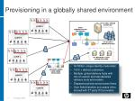provisioning in a globally shared environment