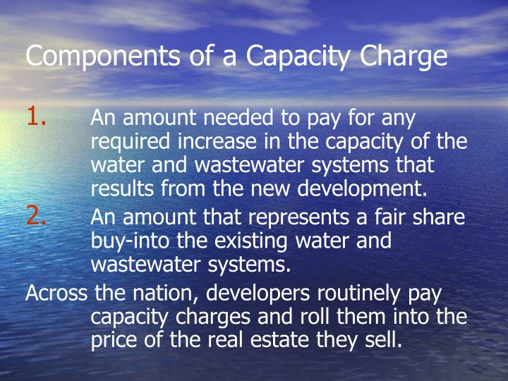 Components of a Capacity Charge