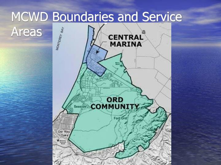 Mcwd boundaries and service areas