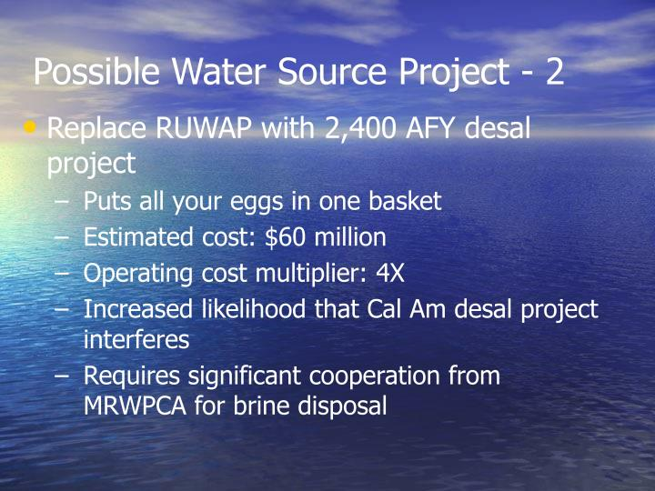 Possible Water Source Project - 2