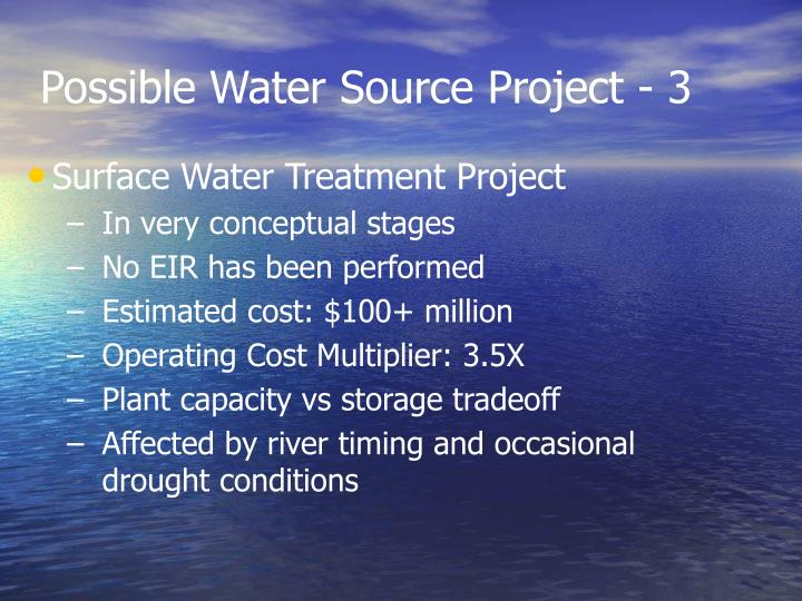 Possible Water Source Project - 3