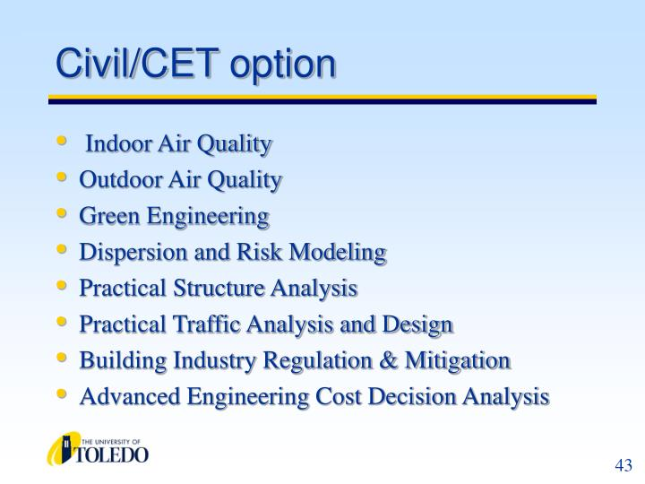 Civil/CET option