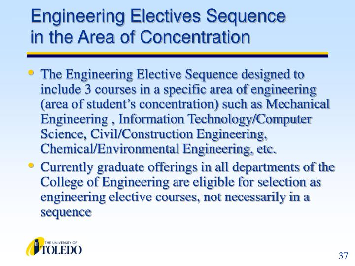 Engineering Electives Sequence