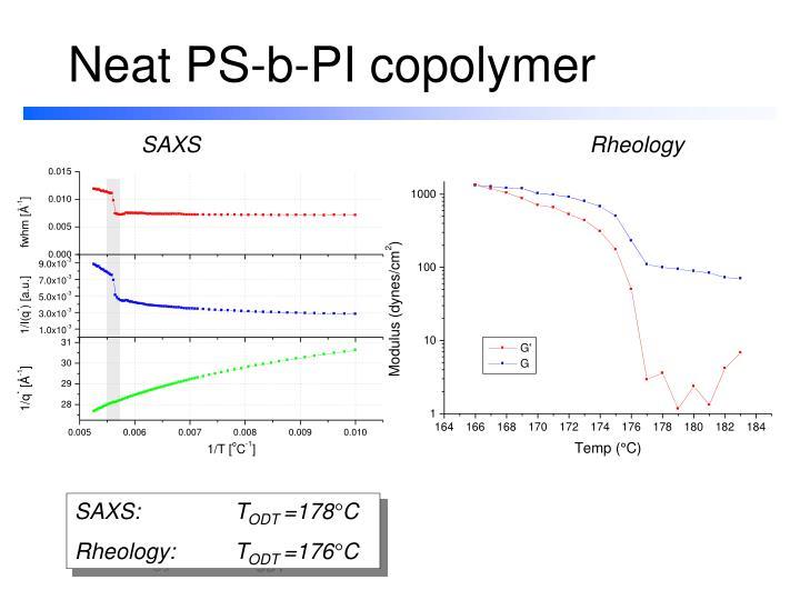 Neat PS-b-PI copolymer
