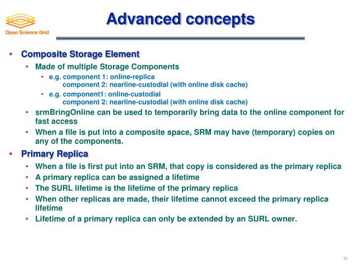Advanced concepts