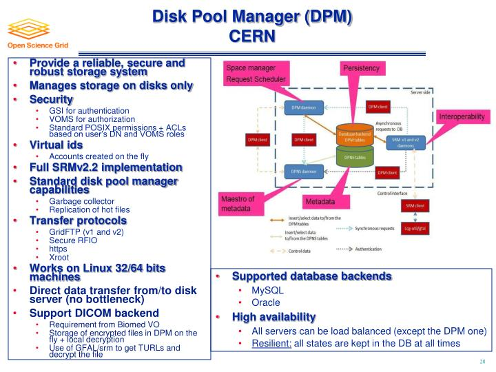 Disk Pool Manager (DPM)