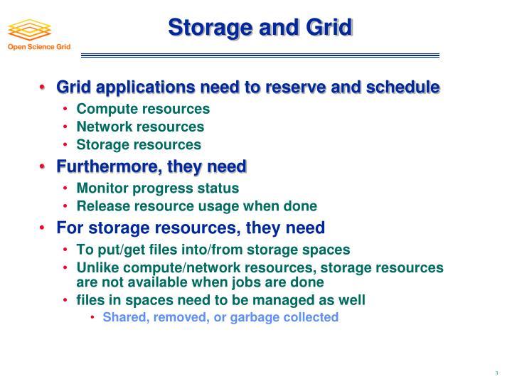 Storage and Grid