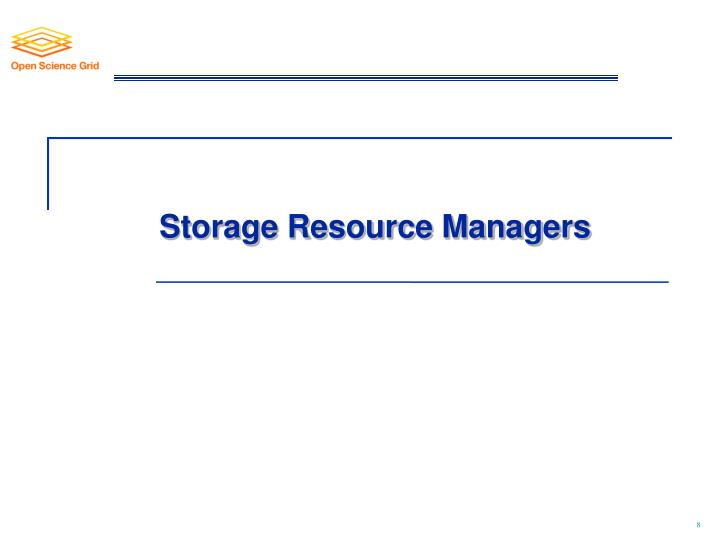Storage Resource Managers