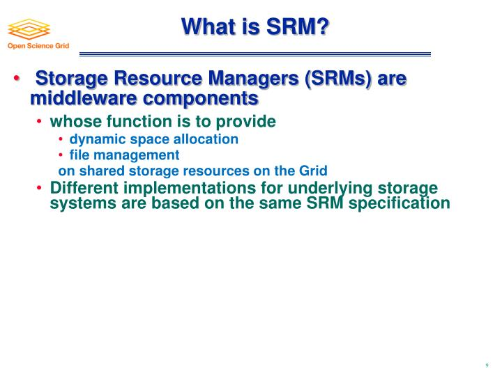 What is SRM?