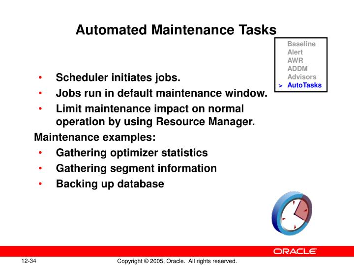 Automated Maintenance Tasks