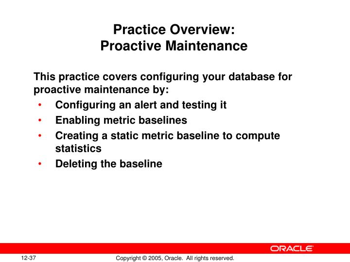 Practice Overview: