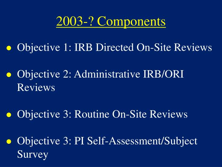 2003-? Components