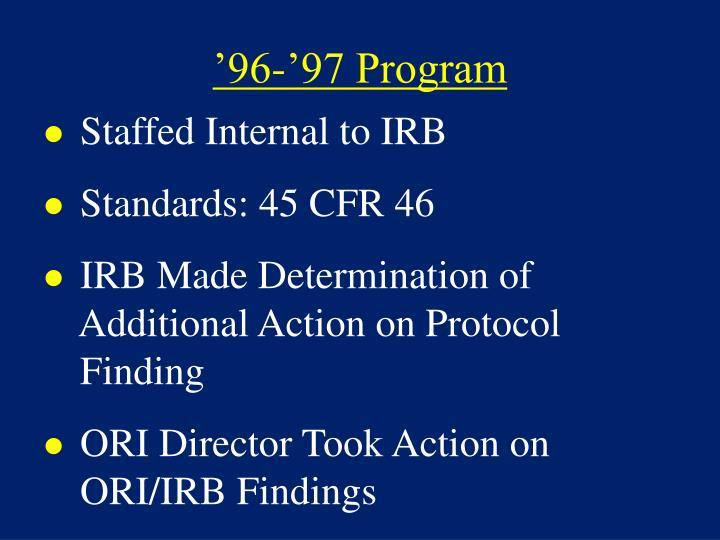 '96-'97 Program