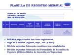planilla de registro mensual