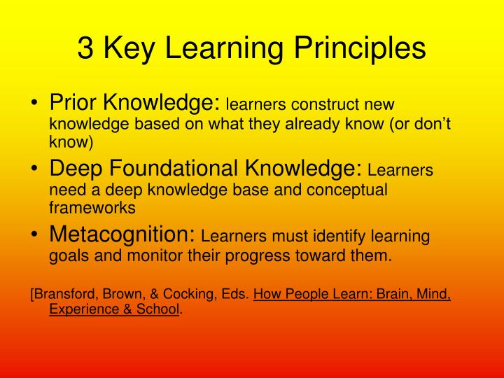 3 Key Learning Principles