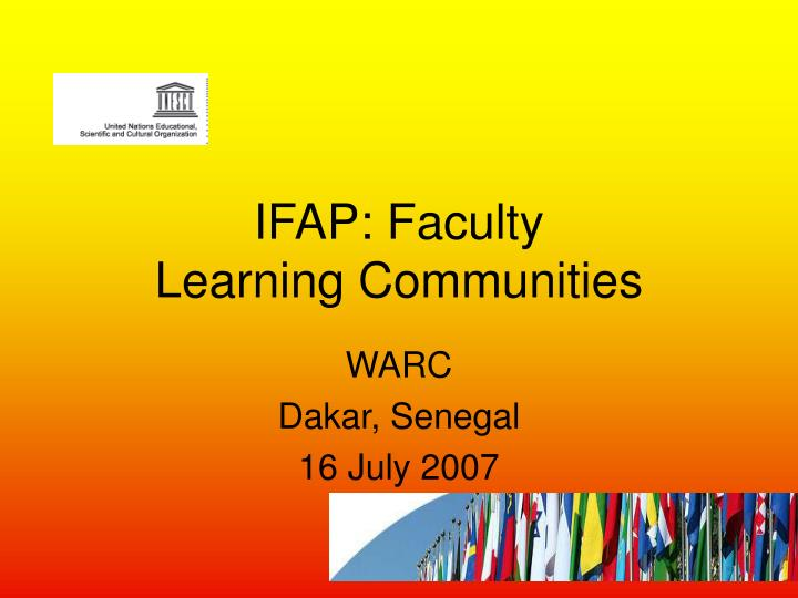 ifap faculty learning communities