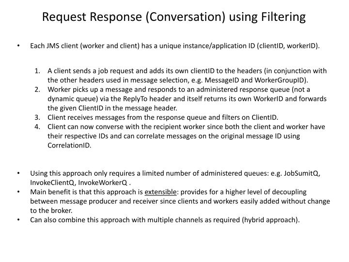 Request Response (Conversation) using Filtering