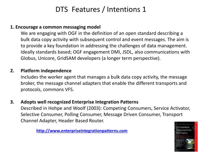 DTS  Features / Intentions 1