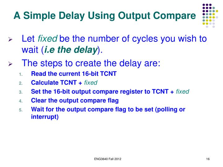 A Simple Delay Using Output Compare