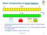 basic components of input capture
