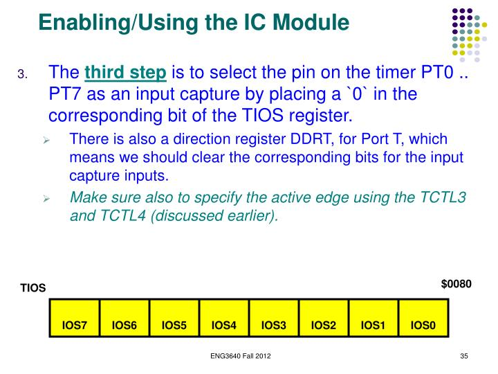 Enabling/Using the IC Module
