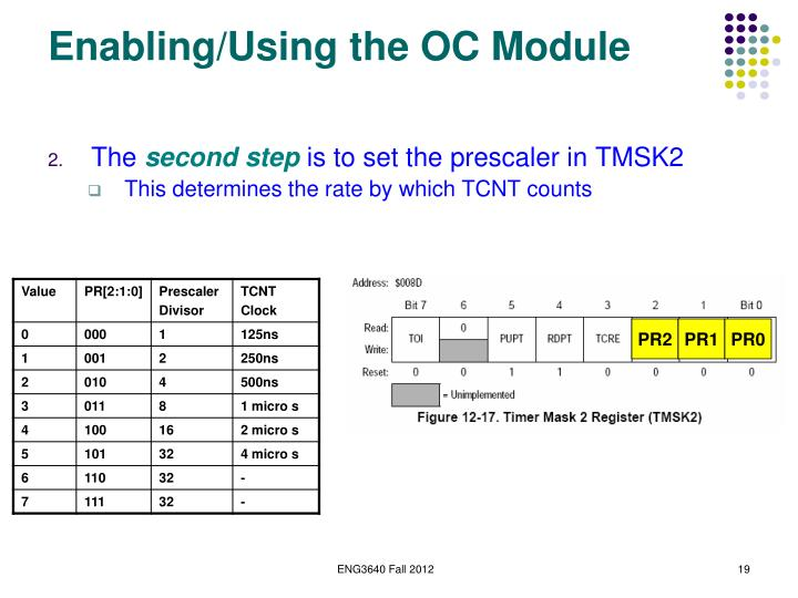 Enabling/Using the OC Module